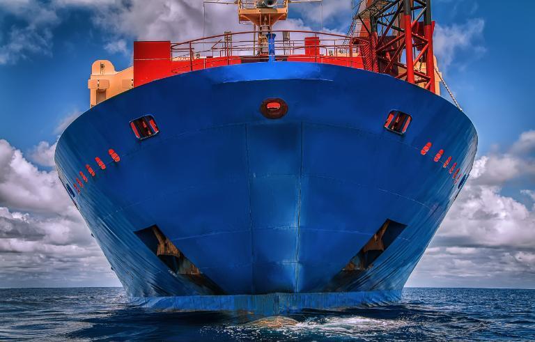 Granatowy statek namorzu